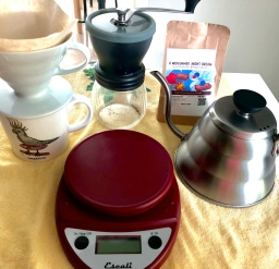 The Process of Making Hand Poured Coffee at Home